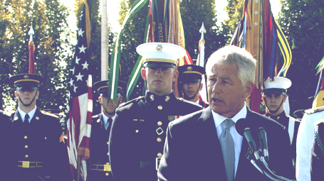 Hagel speaking on POW/MIA recognition day, Photo by: Sun L. Vega