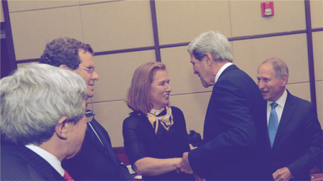 Kerry with Minister Livni and American Jewish leaders, June 2013
