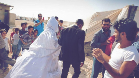 A wedding in a Syrian refugee camp. Photo: Facebook