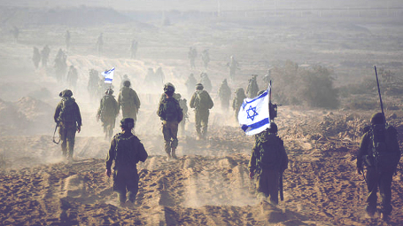 Soldiers in Gaza during operation Protective Edge (Photo by: IDF)