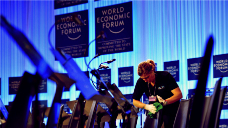 Preparing to open the World Economic Forum 2014 in Davos, Photo: WEF