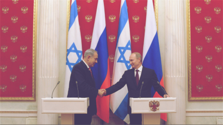 Putin and Netanyahu in Moscow, by: GPO